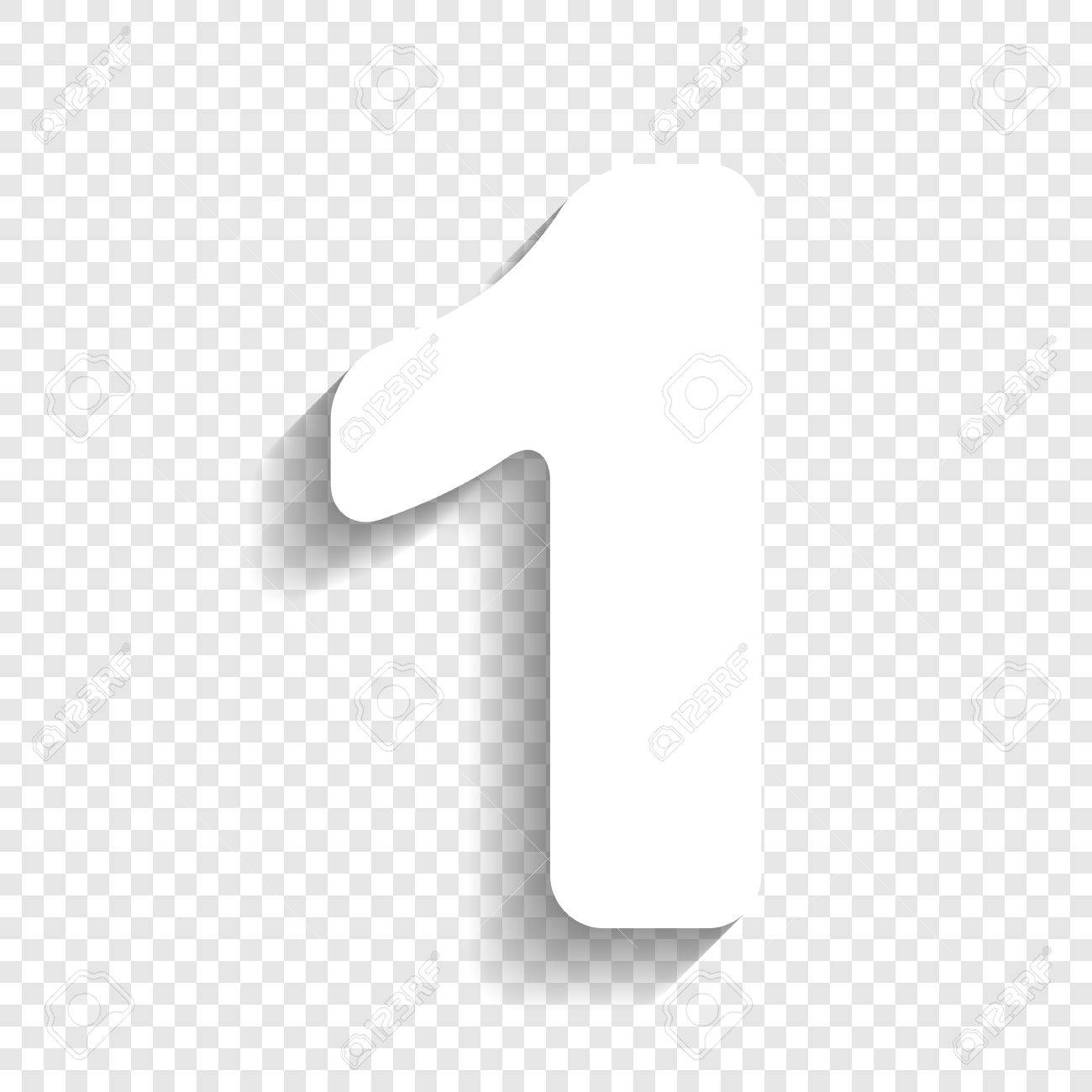Number 1 Clipart No Background.