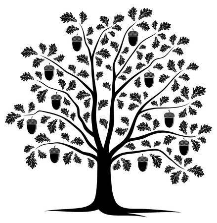 Black and white oak tree clipart 2 » Clipart Portal.