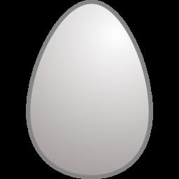 White egg clipart.