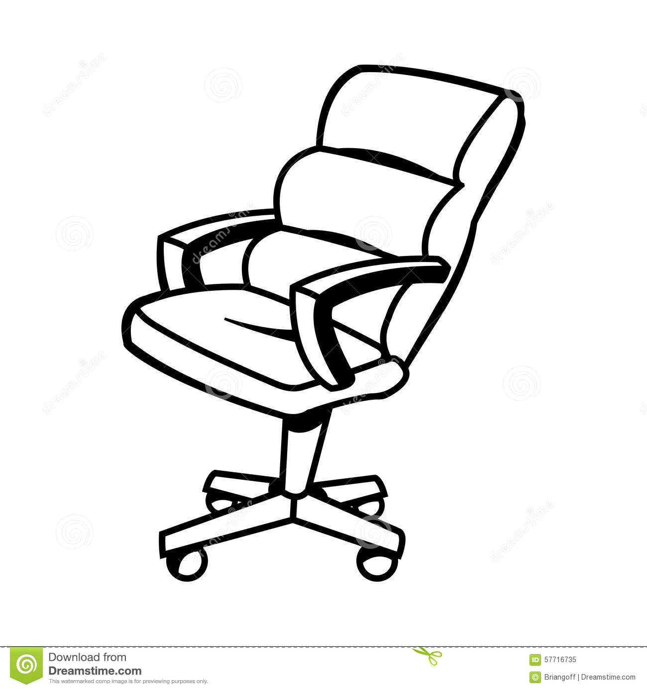 Office Chair Clipart Black And White.