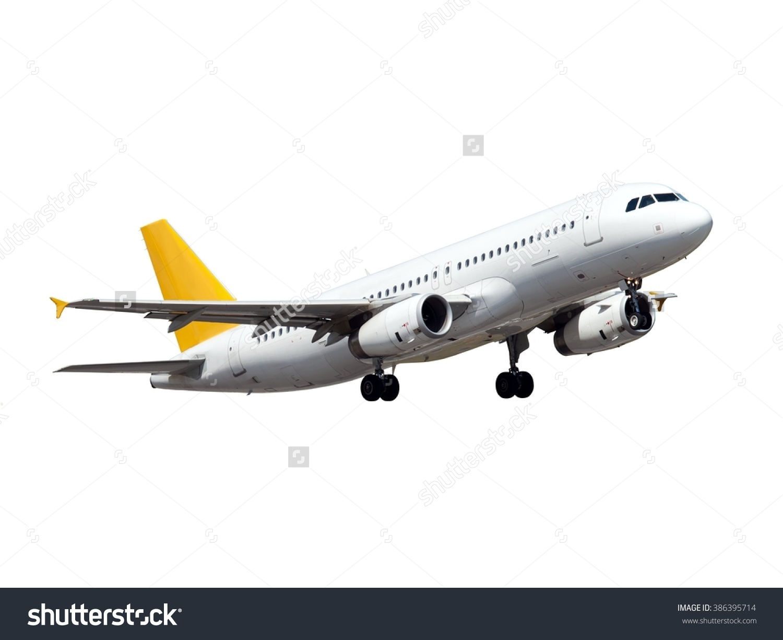 White Aircraft This Plane Gear Yellow Stock Photo 386395714.