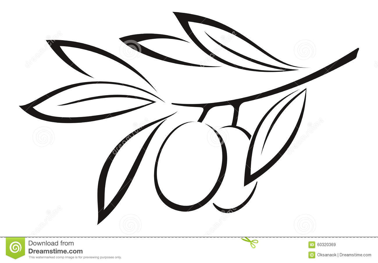 Similiar Black And White Olive Branch Keywords.
