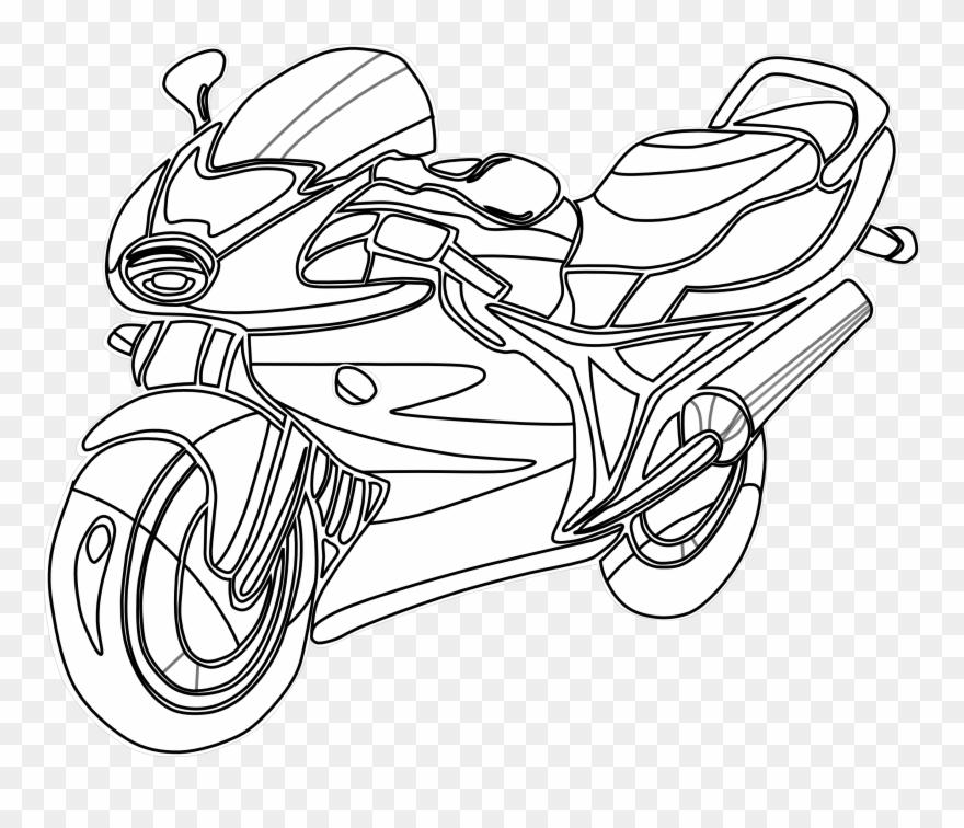 Motorcycle Vector Art.