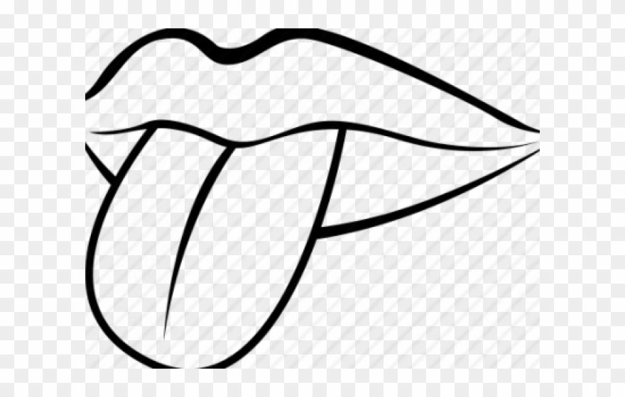 Drawn Tongue Clip Art.