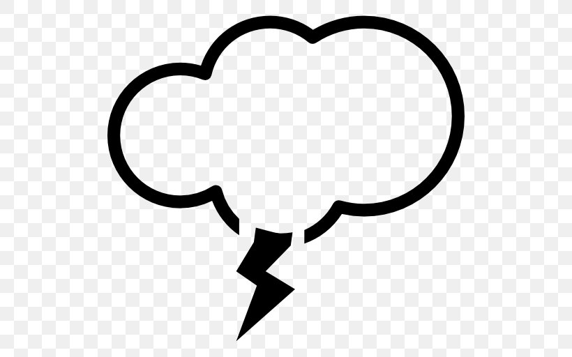 Cloud Lightning Storm Clip Art, PNG, 512x512px, Cloud, Black.