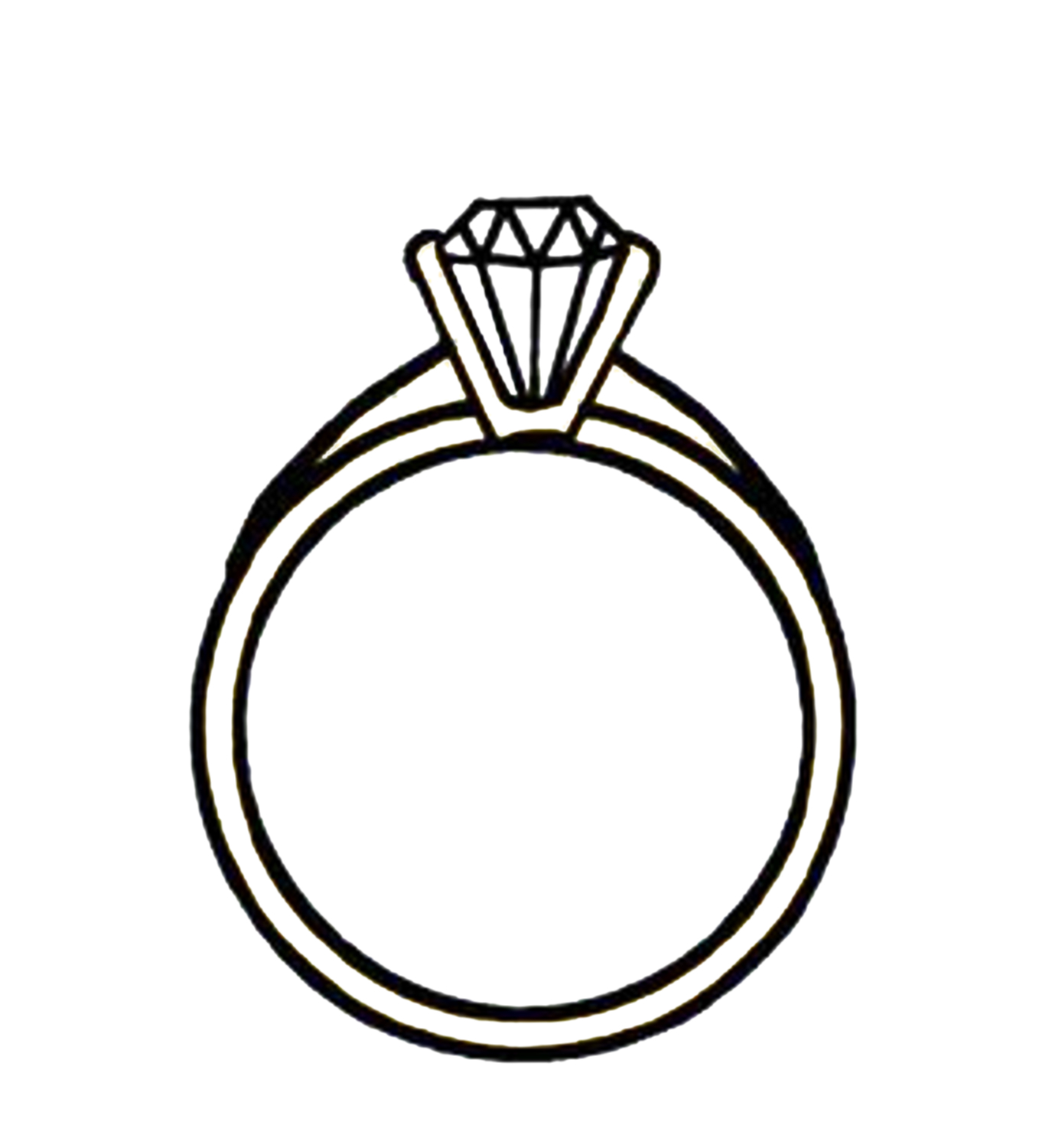 Diamond Clip Art Black And White.