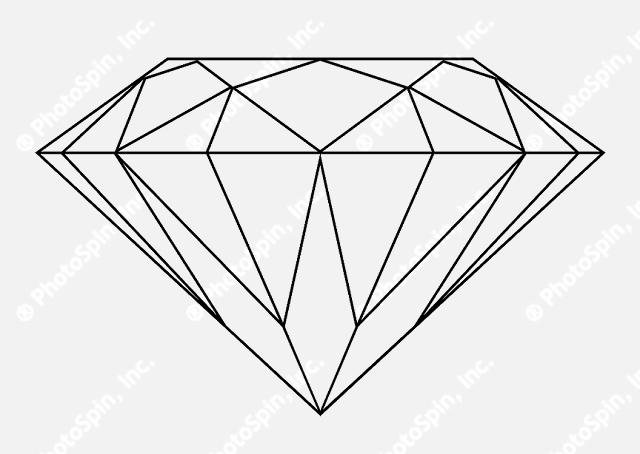 white outline diamond clipart - Clipground