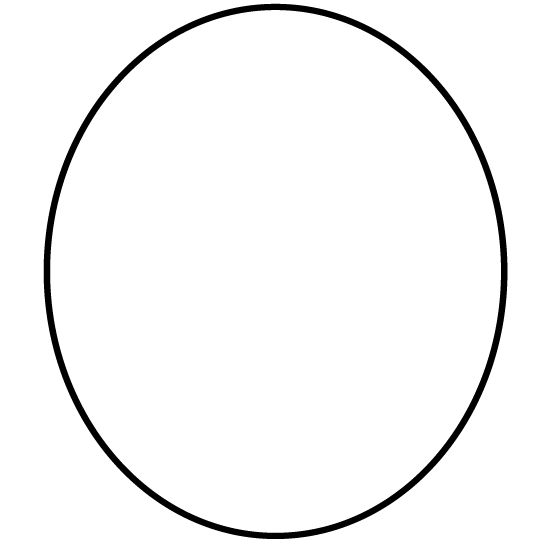 Oval Black And White Clipart.