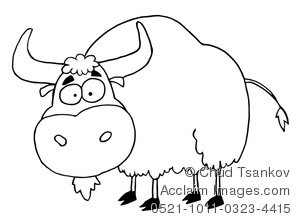 Clipart Black And White Ox.