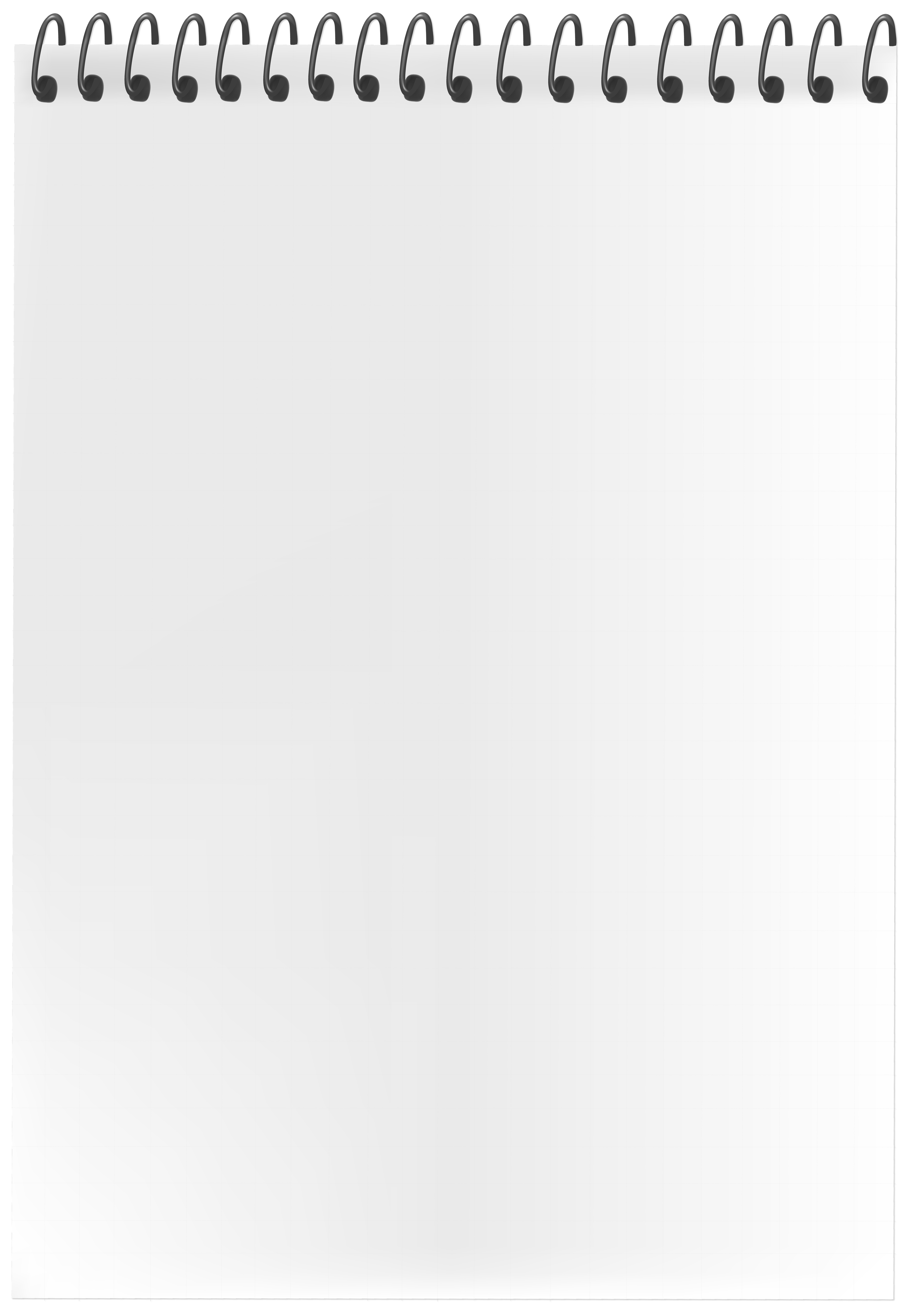 Spiral Blank Page PNG Clip Art Image.
