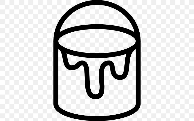 Paint Bucket, PNG, 512x512px, Paint, Black, Black And White.