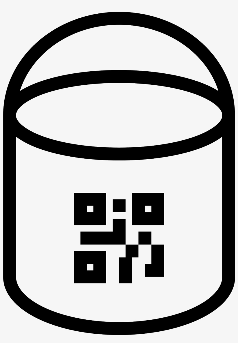 Paint Bucket With Qr Icon.