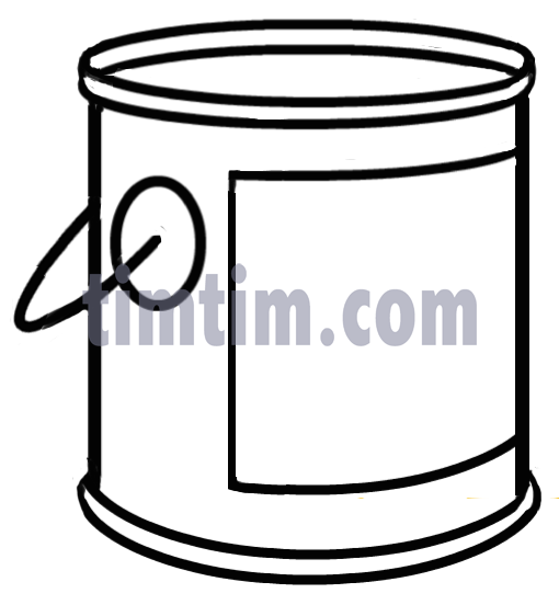 Paint Can Clipart Black And White.