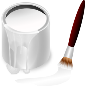 White Paint Bucket And Paint Brush Clip Art at Clker.com.