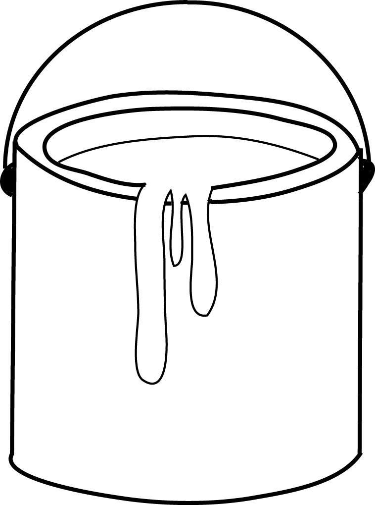 Related Keywords & Suggestions for Paint Bucket Clip Art Black And.