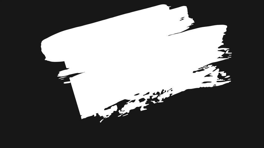 Paint Brush Stroke Clipart Black And White.