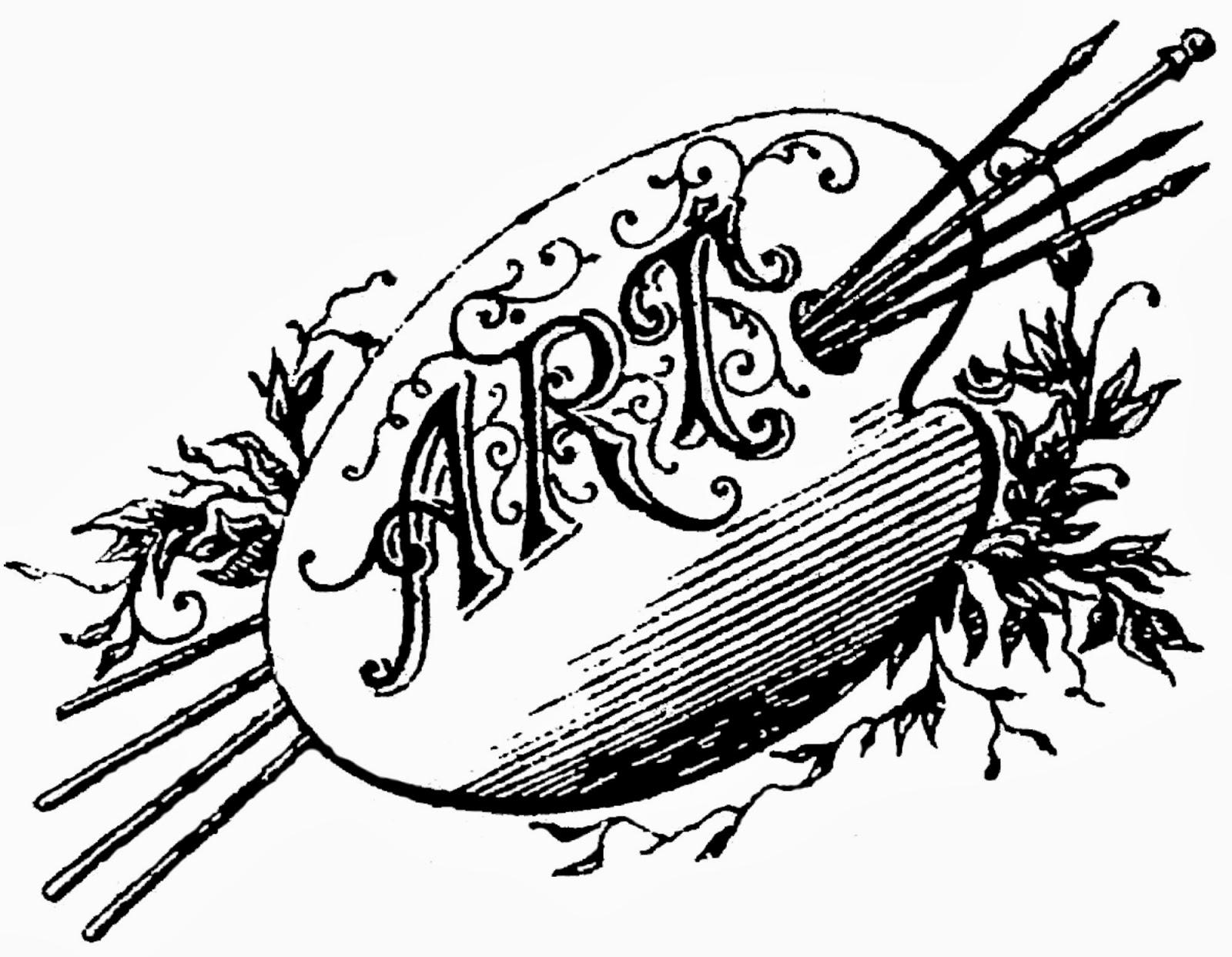 Clipart of a art palate.