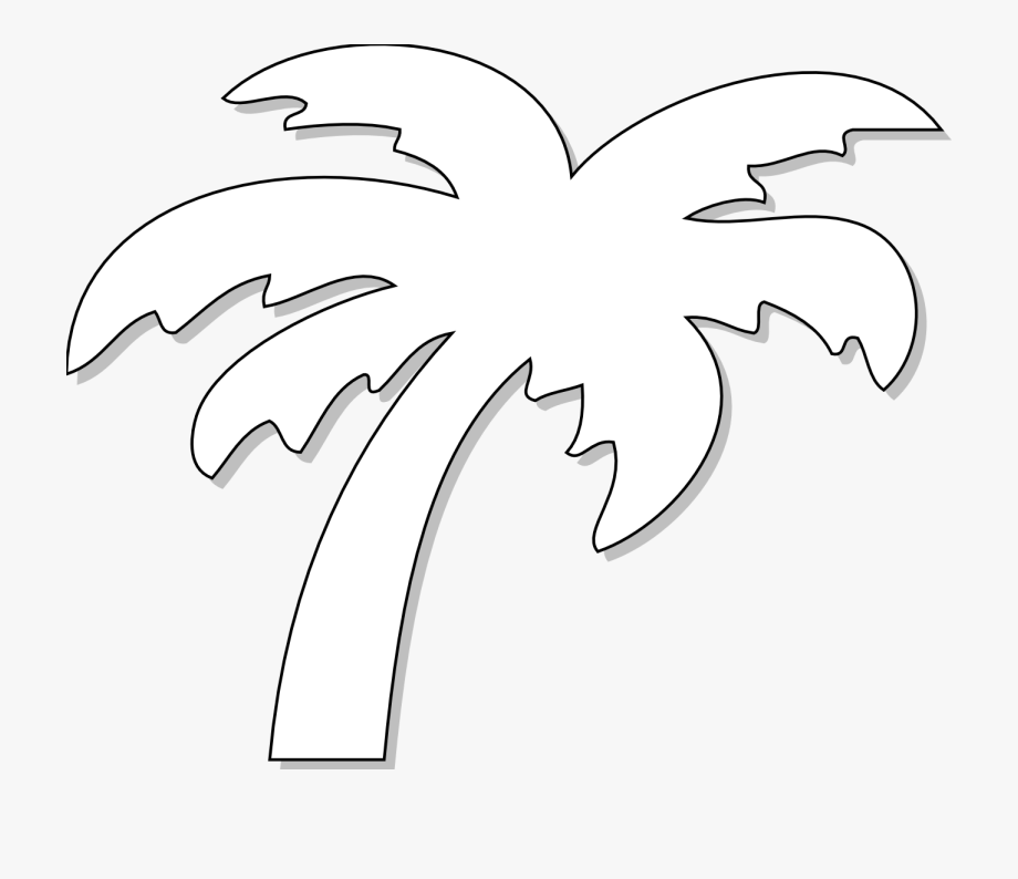 Palm Tree Clip Art Black And White.
