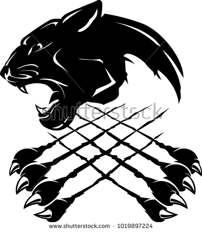 1815 Panther free clipart.