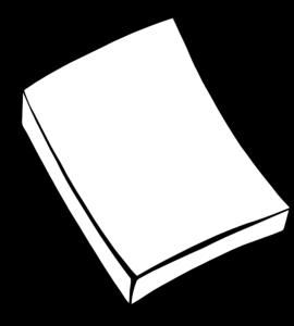 Paper Clip Clipart Black And White.
