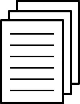 Paper Black And White Clipart.