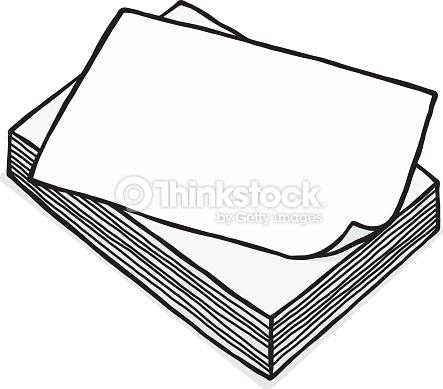 White Paper Clipart.