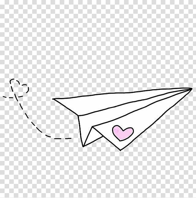 Airplane We Heart It Paper, White paper airplane, white.