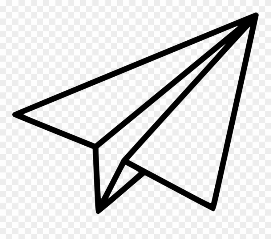 Black Shape Paper Plane Png.