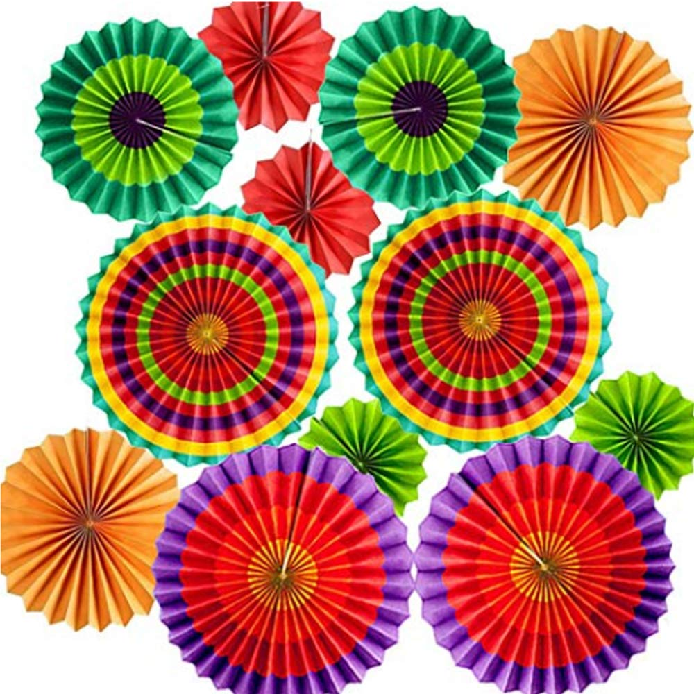Amazon.com: Mexican Fiesta Hanging Paper Fans ,Colorful.