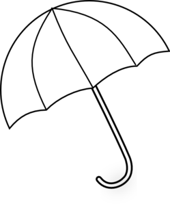Umbrella Clipart Black And White.