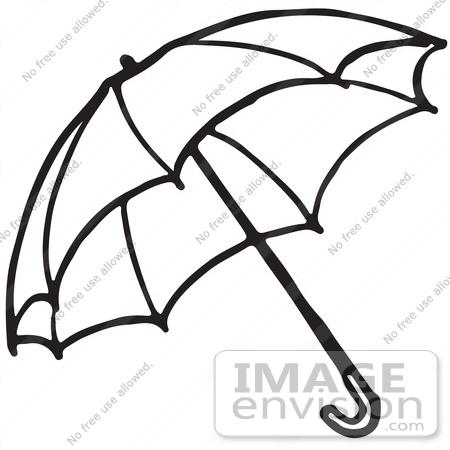 Black and white clipart umbrella.