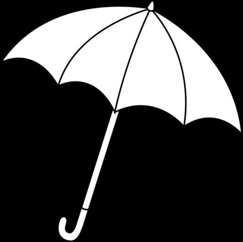 Clipart umbrella black and white.