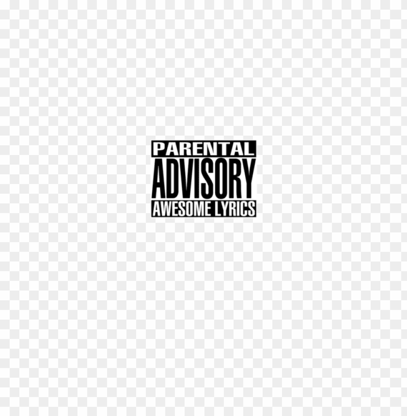 parental advisory png white PNG image with transparent background.