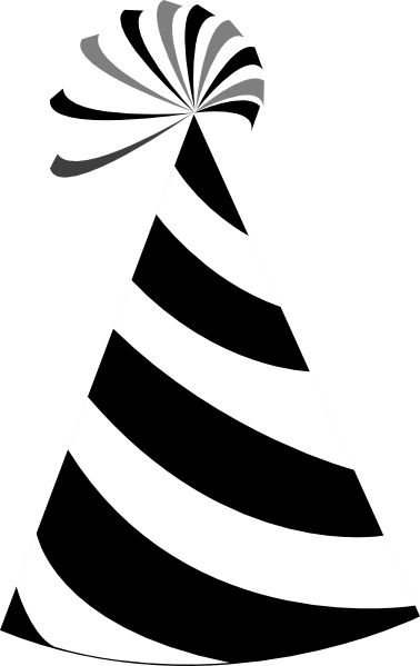 Free Black And White Party Hats, Download Free Clip Art.