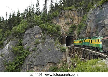 Stock Photography of Tunnel Mountain, White Pass & Yukon Route.