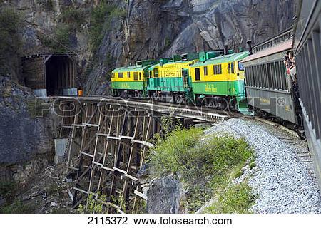 Stock Photo of White Pass & Yukon Route Railway Near Skagway.