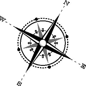 Compass black and whitepass clip art at clker vector clip art.