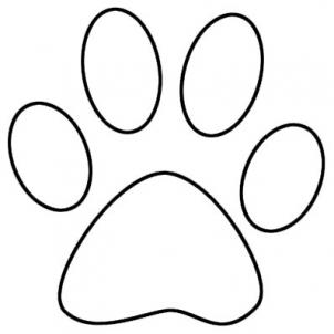 Outline Lion Footprint.