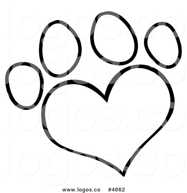 Paw Print Clip Art Black And White & Paw Print Clip Art Black And.