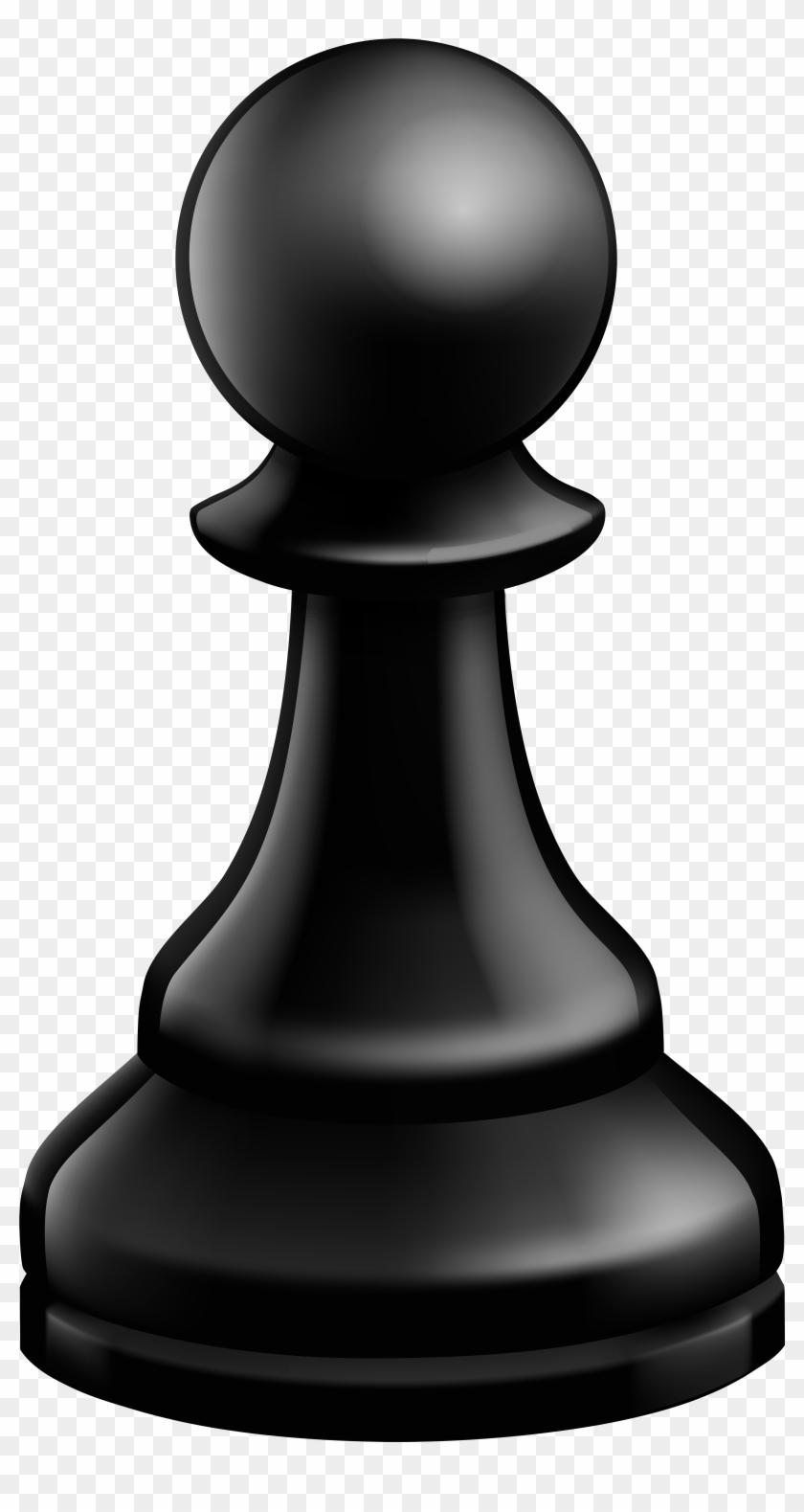 Pawn Black Chess Piece Png Clip Art.
