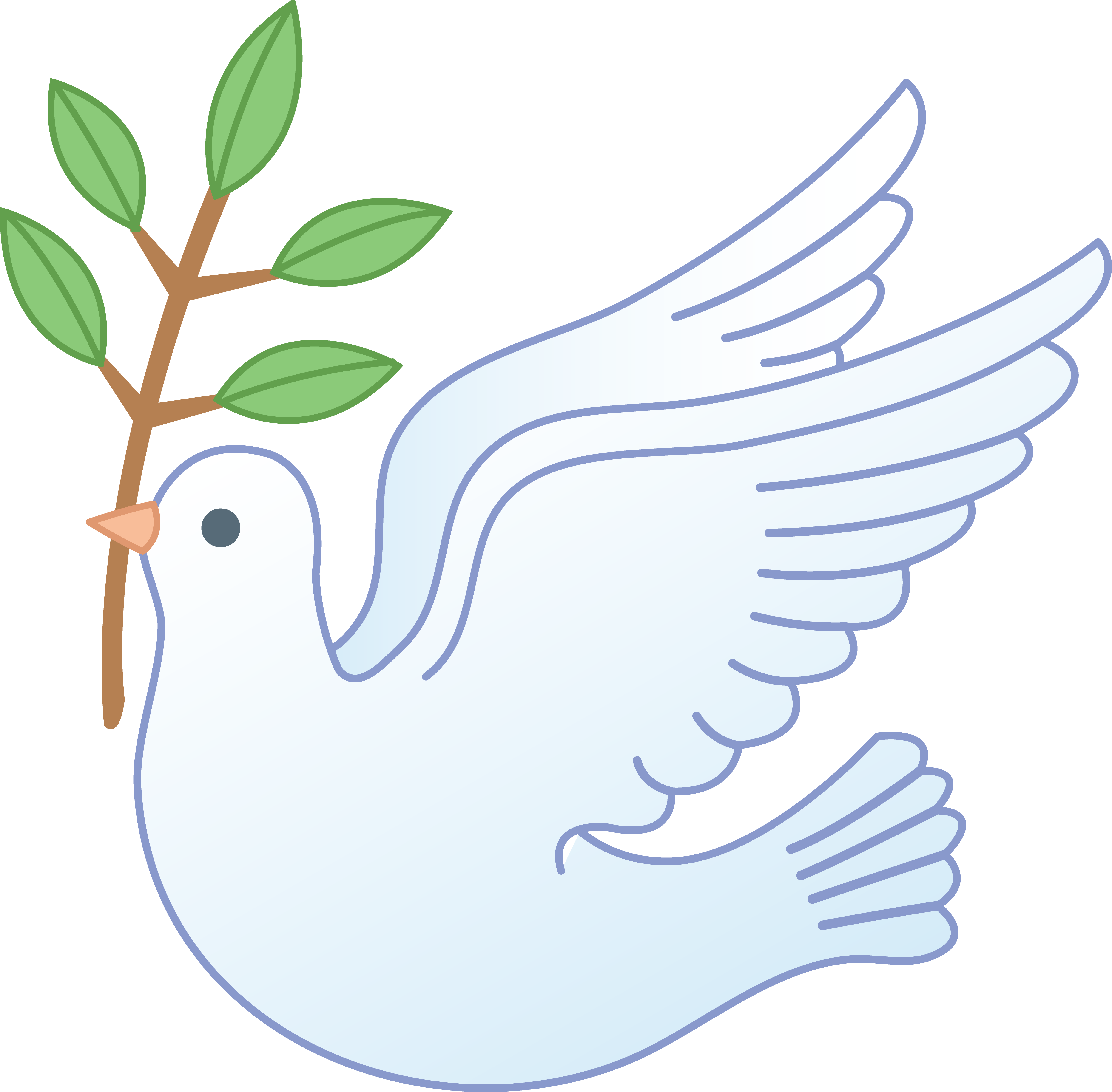 White Peace Dove With Branch.