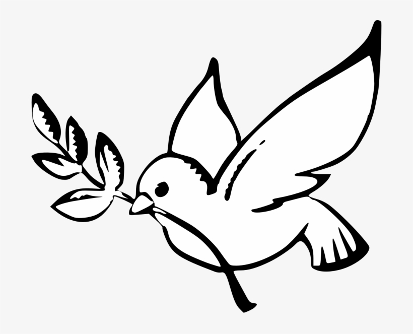 Peace Dove Clipart Black And White.