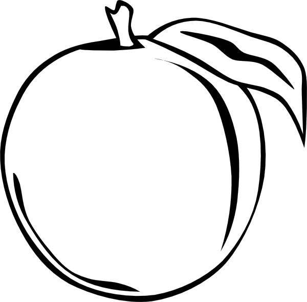 Peach clip art free vector 4vector.