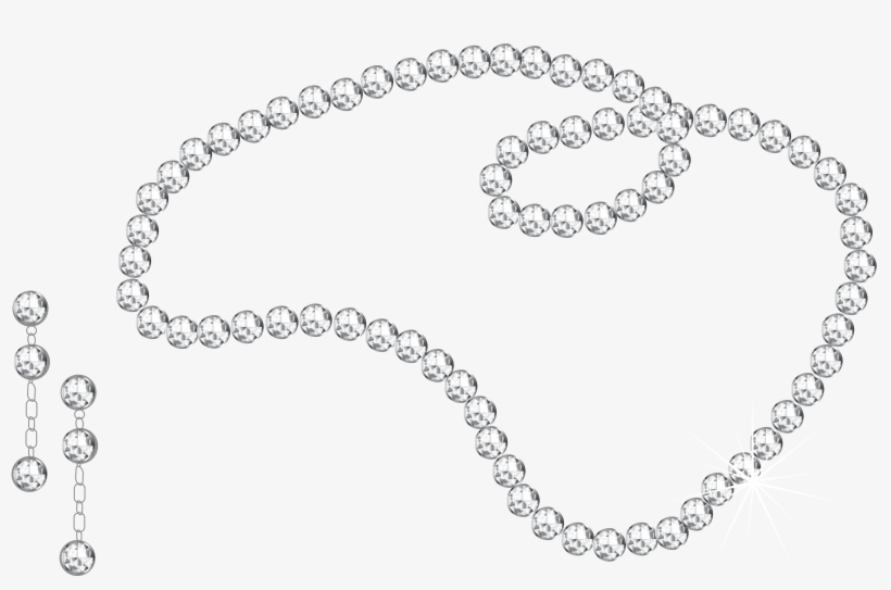 Pearl Necklace Stock Black And White.