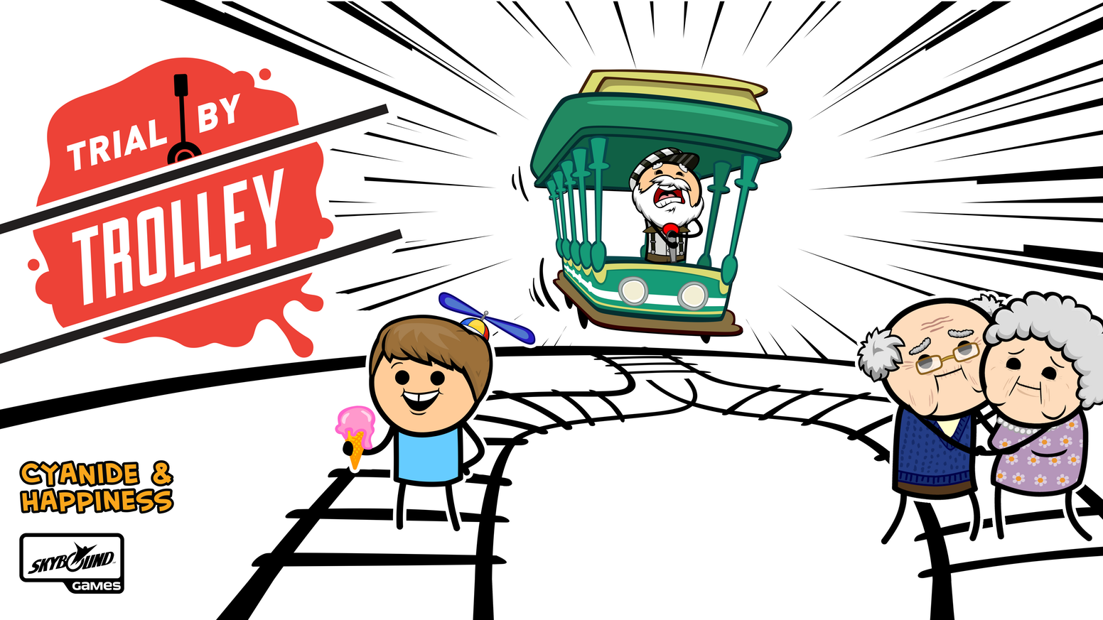 Trial By Trolley by Cyanide And Happiness — Kickstarter.