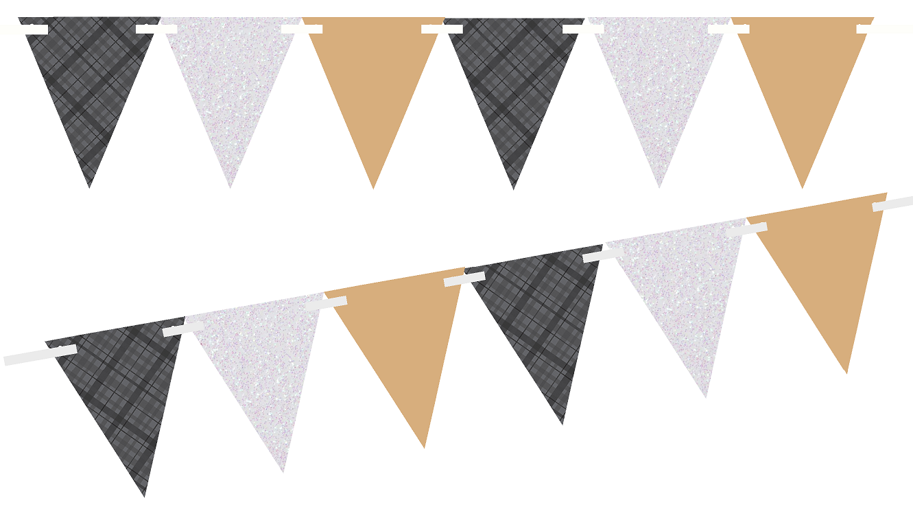 Black And White Pennant Banner Png & Free Black And White.