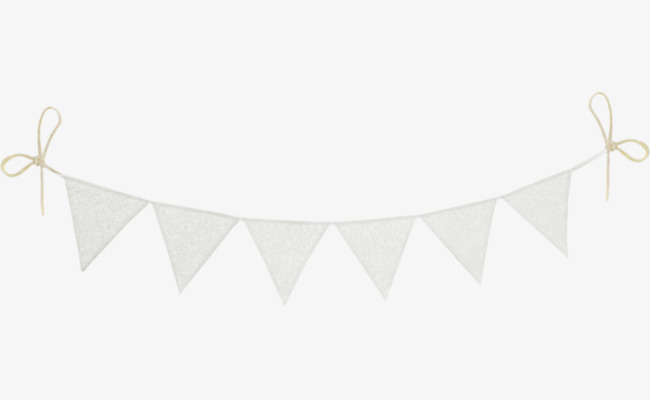 Download Free png White Pennant, Banner, White, Decorations.
