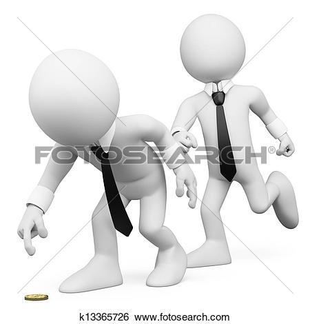 Stock Illustration of 3d white people boss k10986477.