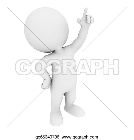 3D White People Stock Illustrations.