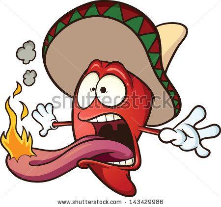 Spicy Chili Pepper. Vector Clip Art Illustration Cartoon.